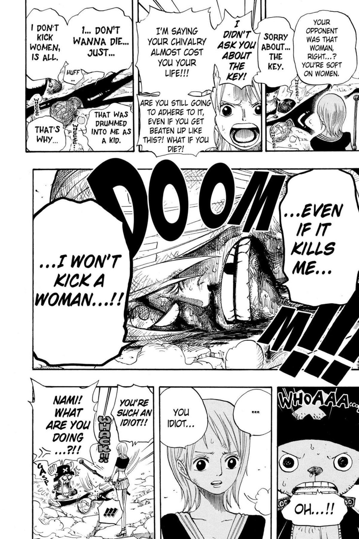 why sanji wont kick women. join list: onepiece (236 subs)Mention History IGNORE THAT.. say what you will about Sanji, he's a man of honor