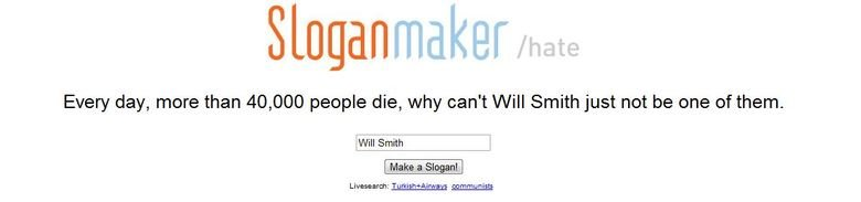 Will Smith. I hate descriptions..