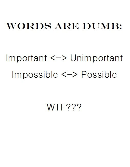 Words are Dumb. .