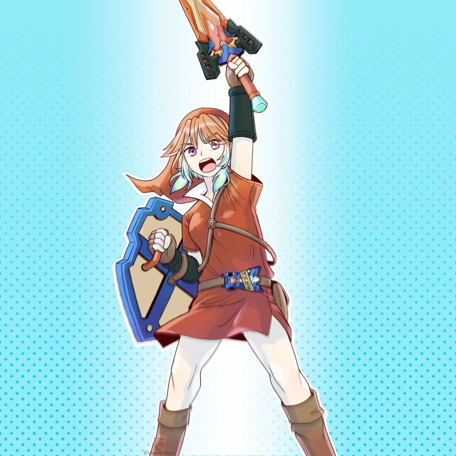 wouldn't that be weird?. guys, guys, guys what if.. what if zelda.. was a girl!.. That's not a genderbend. That's Kiara from Hololive dressed up as link.