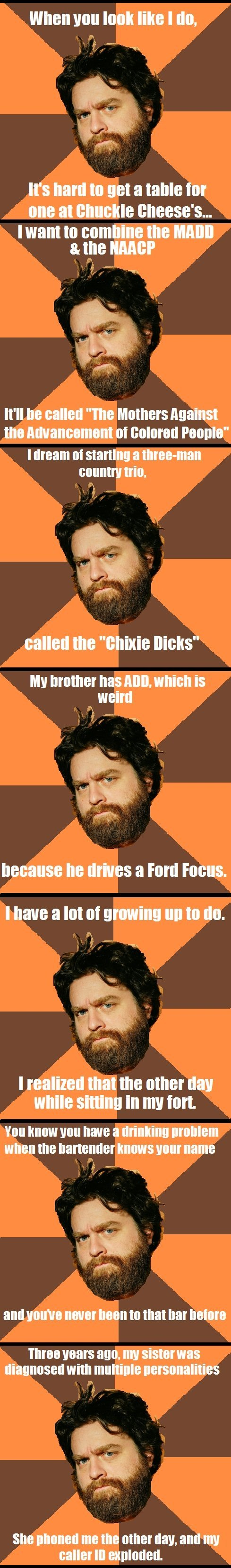 """zach galifianakis meme. . when you I I I II I I Will"""" com 8. III I (littlle I III SIR"""" III?! mill Milli! II In III!"""" Tti II I I VIII"""" III"""" ll if g. I love Zach Galifianakis! And i want to thank you for using jokes from his great stand-up and not lines from his movies that everyone knows!"""