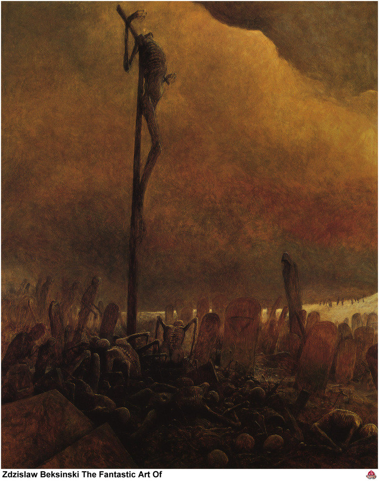 Zdzislaw Beksinski. I know his art has been posted on here before, but I wanted to make my own post dedicated to such an extraordinary artist. He had no formal