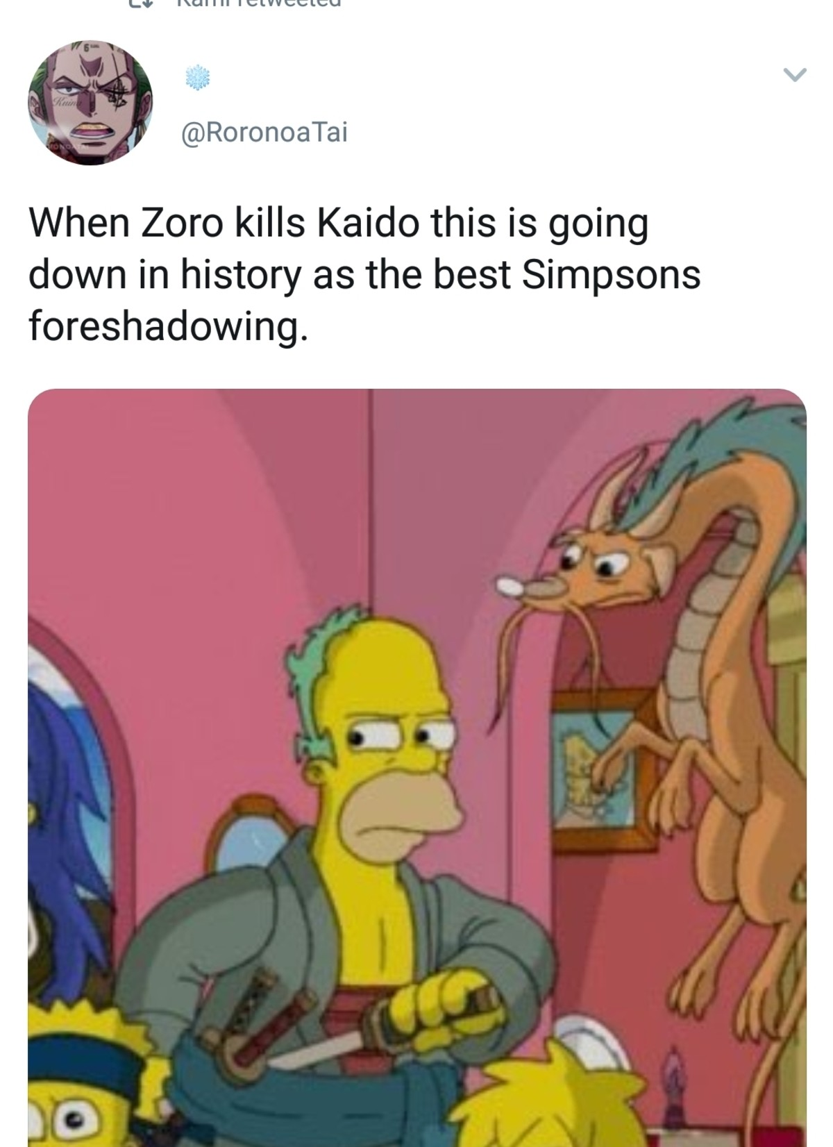 Zoro himson. join list: onepiece (236 subs)Mention History.. Bruh no way is this real I've been binging Simpson's the last few weeks and I'm sure I would've caught this