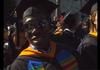 Black man graduating