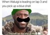 Blue him away