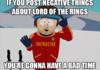 Negative LOTR posts...